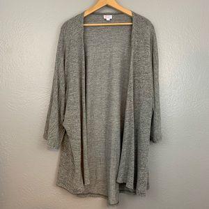 LuLaRoe Lindsay Kimono Cardigan Solid Gray Large